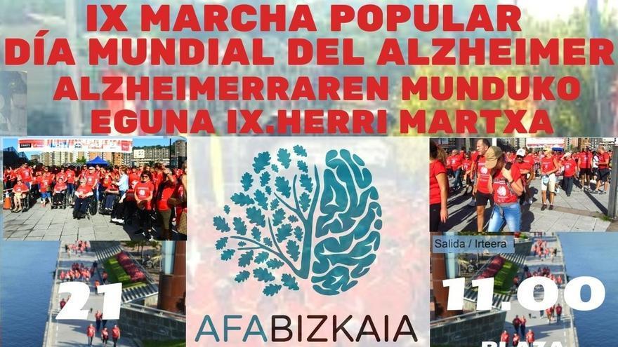 Un millar de personas pedirán más medios para la investigación en la IX Marcha del Día Mundial del Alzheimer en Bilbao