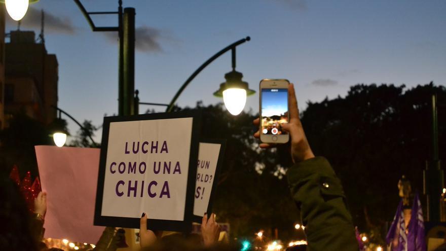 Una imagen de la manifestación en Málaga | N.C.