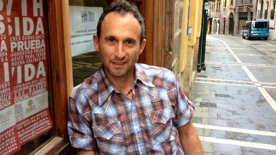 Ángel Leránoz, responsable del programa de HSH en la Comisión Antisida de Navarra.