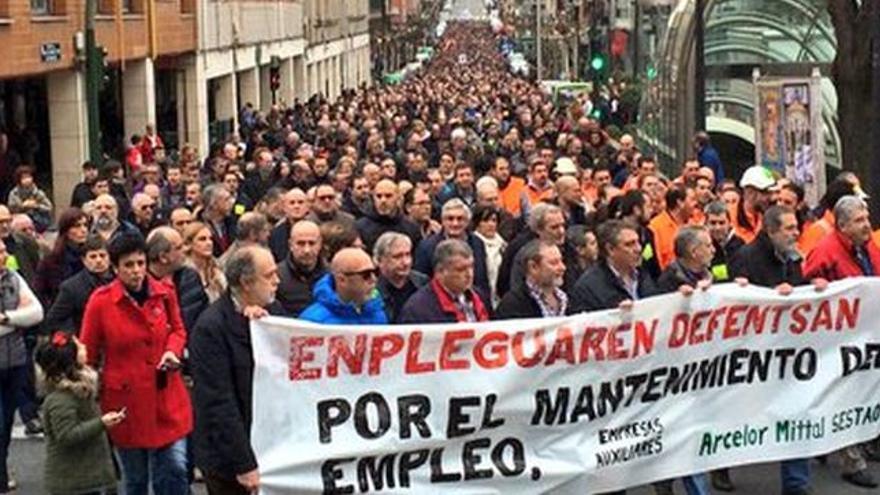 Movilización a favor del mantenimiento de la ACB, de Sestao.