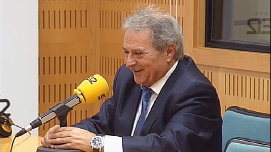 El presidente de la Diputación de Valencia, Alfonso Rus, durante su entrevista en Radio Valencia