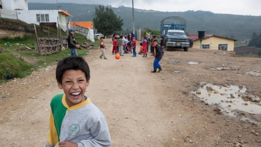Más del 55% de los 6,9 millones de desplazados por el conflicto armado son menores de 15 años.