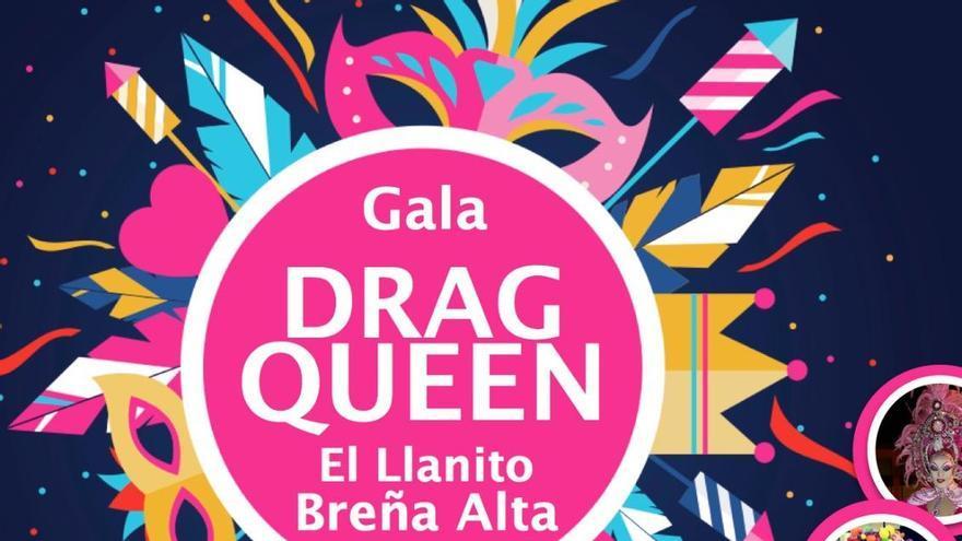 Cartel de Gala Drag Queen de El Llanito de Breña Alta.