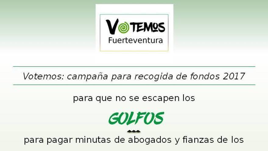 Mensaje de Votemos Fuerteventura para personarse en los distintas causas judiciales