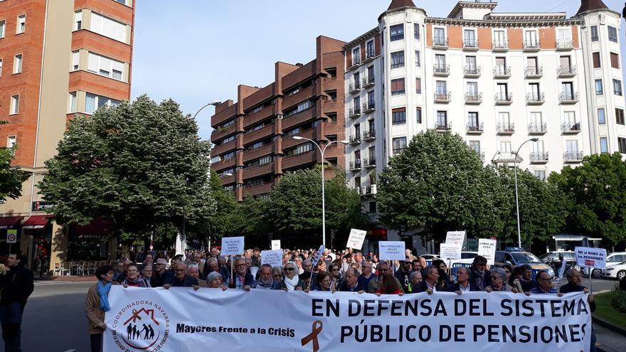 """Una manifestación en Pamplona reclama """"estabilidad en el futuro"""" y unas """"pensiones dignas"""""""