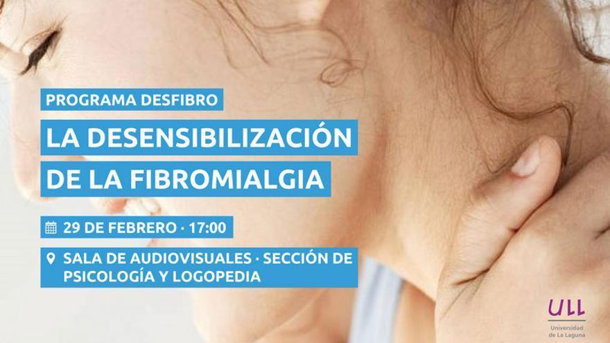 Cartel del programa desarrollado por el Departamento de Psicología Clínica, Psicobiología y Metodología de la ULL y los servicios de Reumatología y Psiquiatría de La Candelaria