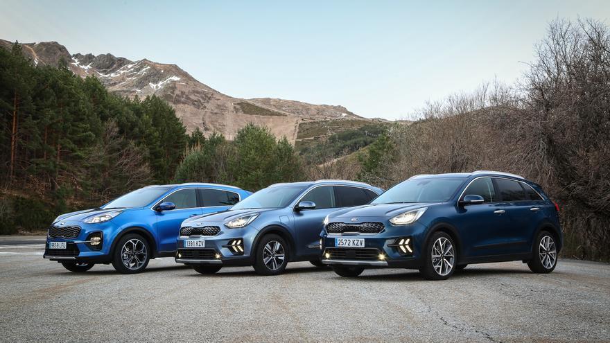 Gama de SUV híbridos de la marca coreana Kia.