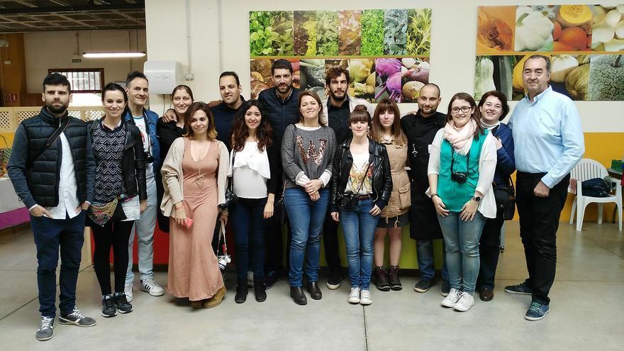 Los blogueros visitaron este sábado el Agromercado de Breña Alta.