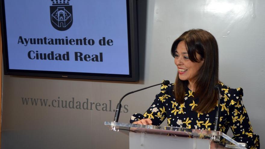 Pilar Zamora, hoy, en rueda de prensa