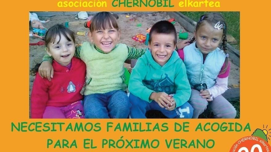 Chernobil Elkartea busca 40 nuevas familias para acoger a niños de Chernobil
