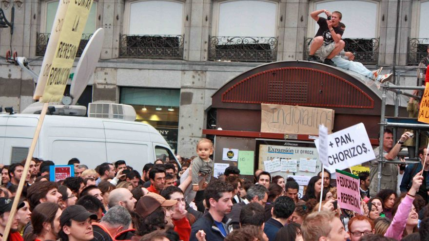 La Puerta del Sol y el movimiento 15M. Mayo de 2011