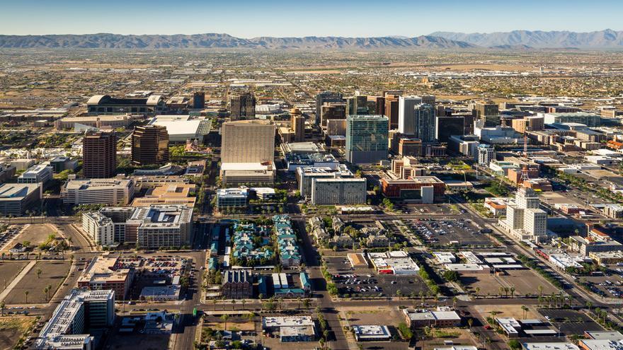 Ciudad de Phoenix desde las alturas. Jerry Ferguson (CC)