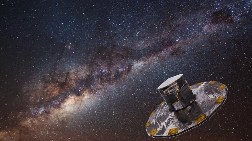 El satélite Gaia estará durante cinco años obteniendo informació sobre la Vía Láctea (Fuente: ESA/ATG medialab)