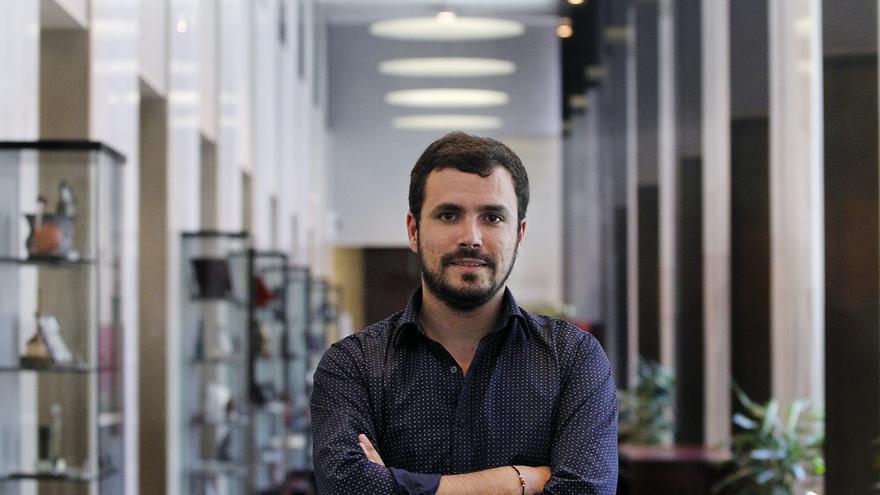 Alberto Garzón, en el Congreso de los Diputados. / Marta Jara