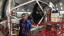 Antonio Cabrera en el Gran Telescopio Canarias (GTC)