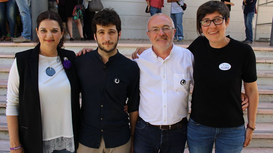 Fabiola Meco, Antonio Estañ, Antonio Montiel y Pilar Lima en la II Asamblea Ciudadana de Podem.