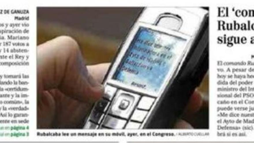 SMS a Rubalcaba en El Mundo
