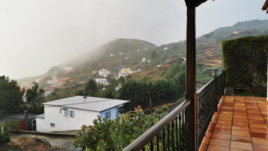 Día de lluvia, este viernes, en Villa de Mazo