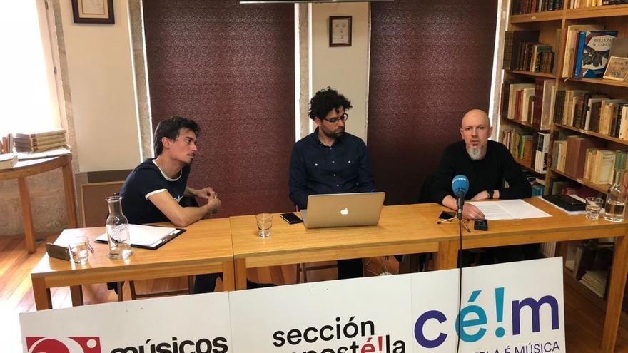 Rueda de prensa de la Sección Compostela de la asociación Músicos ao Vivo
