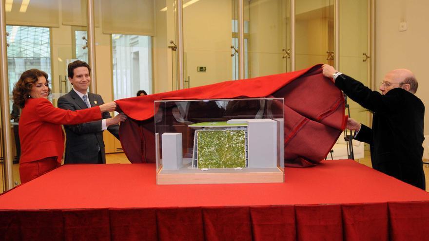 Proyecto del museo Ambasz presentado por Botella y el arquitecto en marzo de 2013
