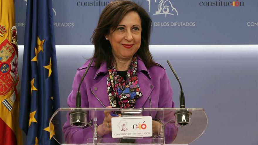 Margarita Robles, convencida de que el PNV apoyará los presupuestos
