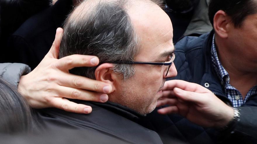 El último candidato a president de la Generalitat, Jordi Turull, minutos antes de conocer que ingresaría en prisión