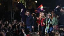 Pablo Iglesias en el primer acto tras regresar de su baja de paternidad