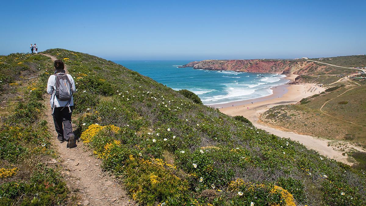 Trilho dos Pescadores, o Sendero de los Pescadores, en Portugal.