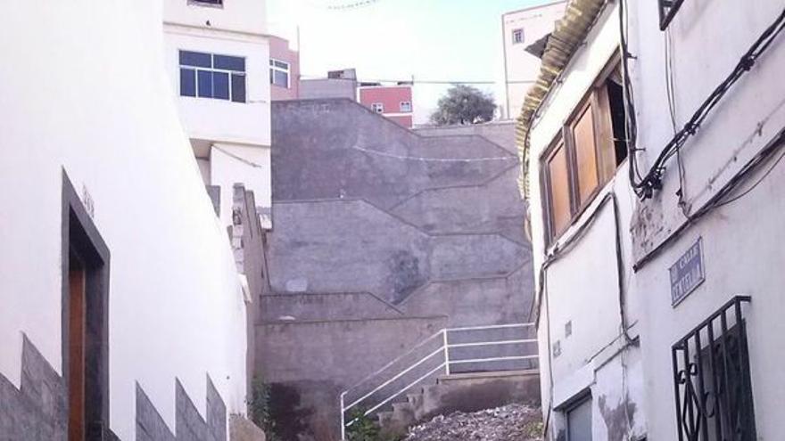 Escalera que conecta San José con San Juan