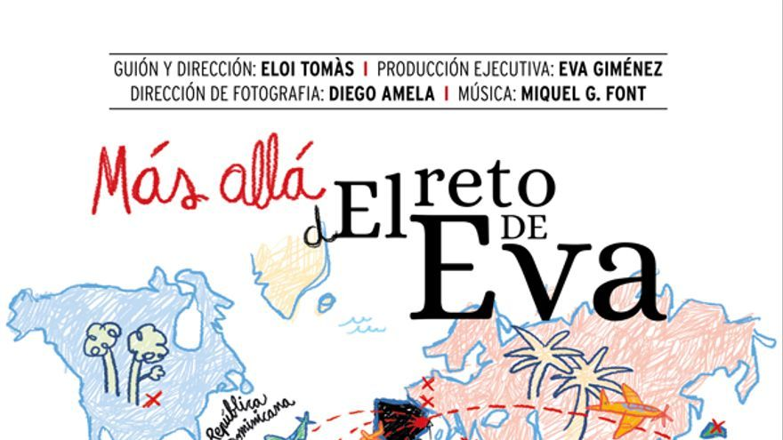 Cartel del documental 'Más allá del reto de Eva', con Eva y su hijo, Nacho