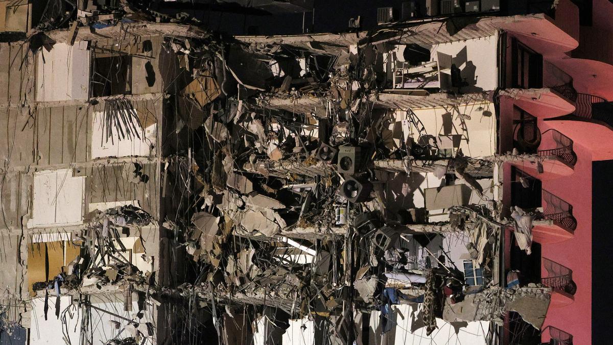 Derrumbe en un edificio de Miami.