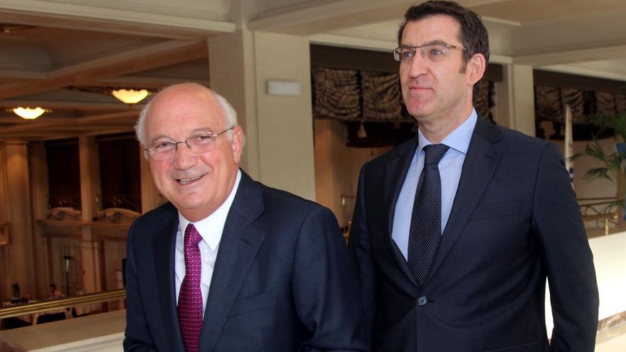 Antonio Fontenla con Feijóo en una imagen de archivo de cuando el primero era el presidente de la patronal gallega