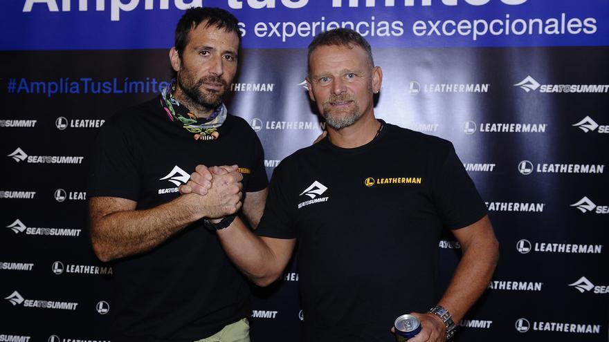 Alex Txikon y Antonio de la Rosa.