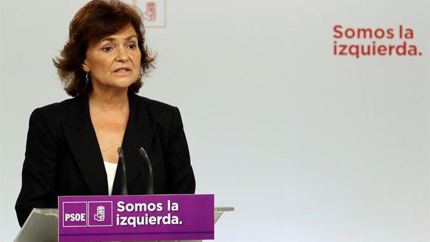 Calvo (PSOE): con el pacto ningún maltratador podrá disfrutar de sus hijos