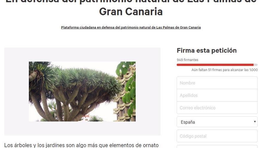 Petición en defensa del Patrimonio natural de Las Palmas de Gran Canaria
