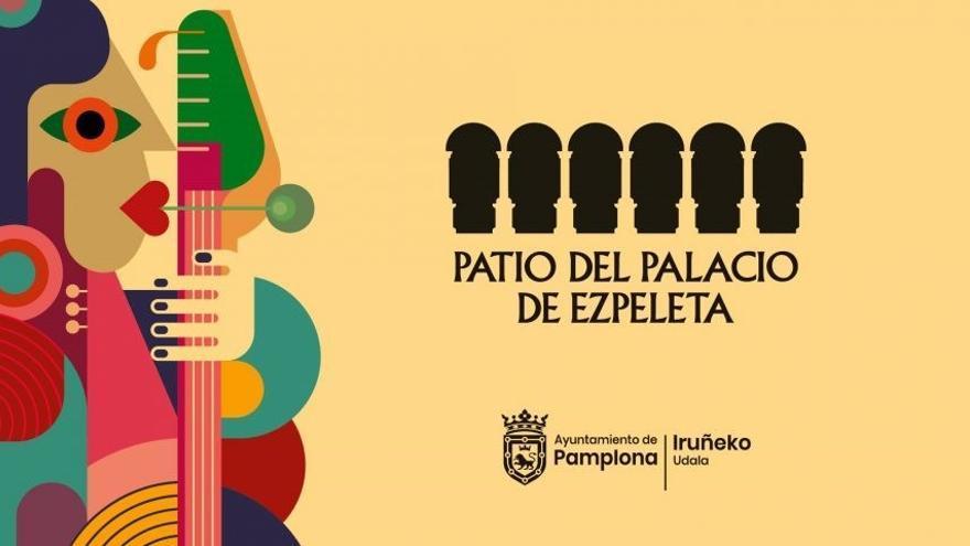 Cartel de actividades en el Palacio Ezpeleta de Pamplona