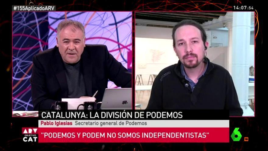 Ferreras y Pablo Iglesias en Al Rojo Vivo