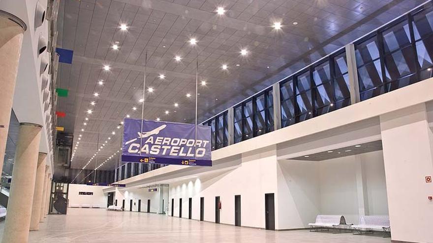Una imagen del interior de la terminal del aeropuerto de Castellón.
