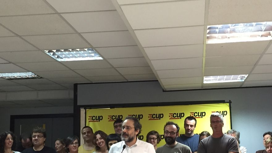 Antonio Baños, candidato de la CUP a las elecciones del 27S.