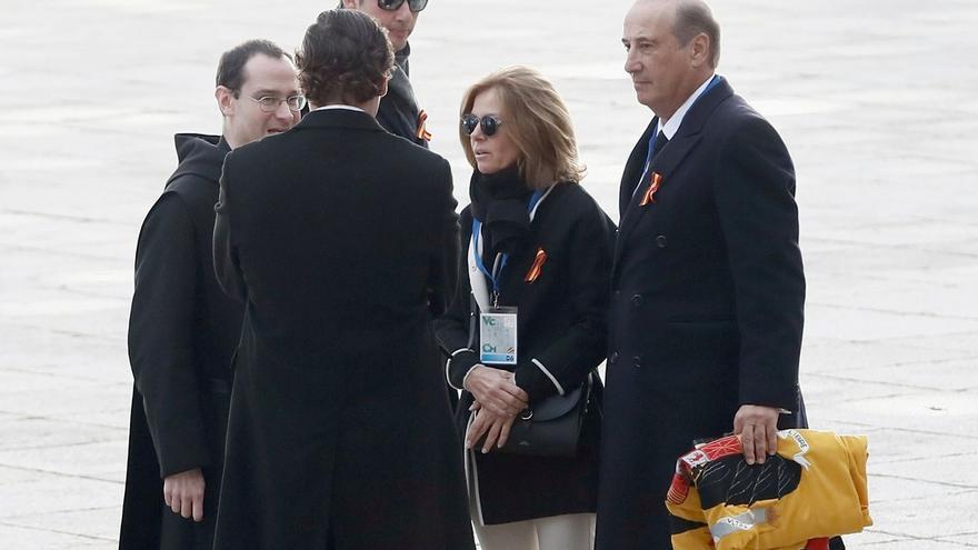 Familia Franco y el prior Cantera