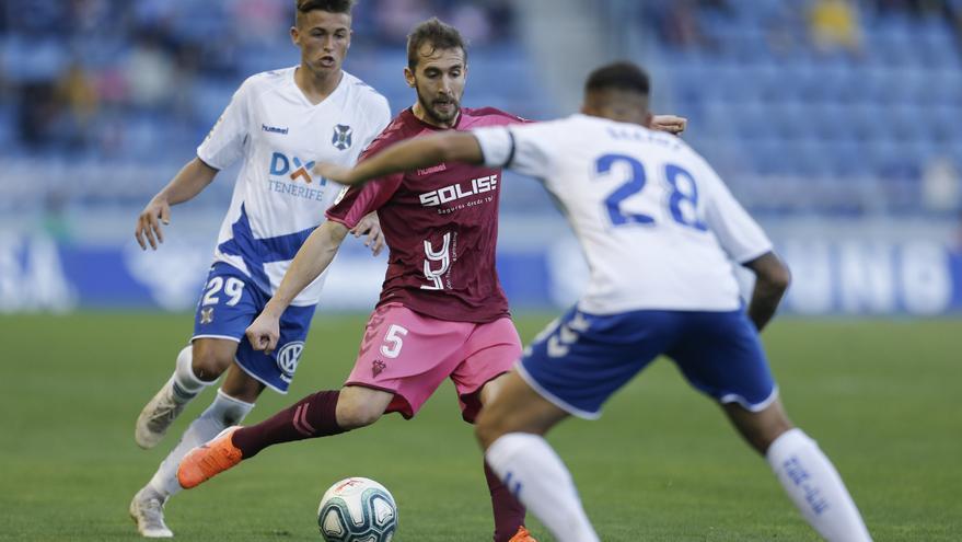 Jorge, en segunda instancia, en el choque Tenerife-Alba de este pasado sábado.