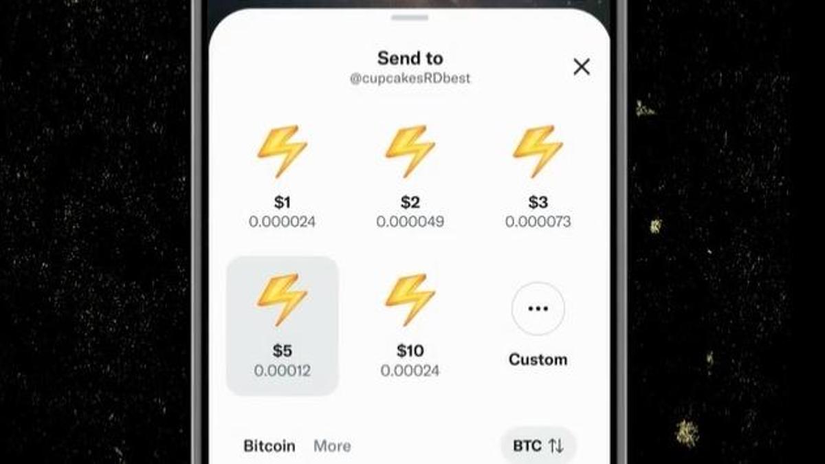 """Imagen de la presentación de la función """"Tips"""", que permitirá enviar Bitcoin a otros usuarios a través de Twitter."""