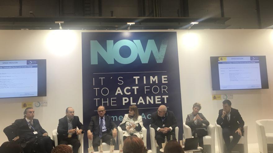 Un momento de la mesa redonda sobre turismo en la COP25.