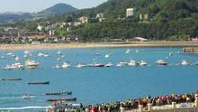 Las regatas de la Bandera de la Concha de San Sebastián incorporan este año el sistema de salida por semáforo de la ACT