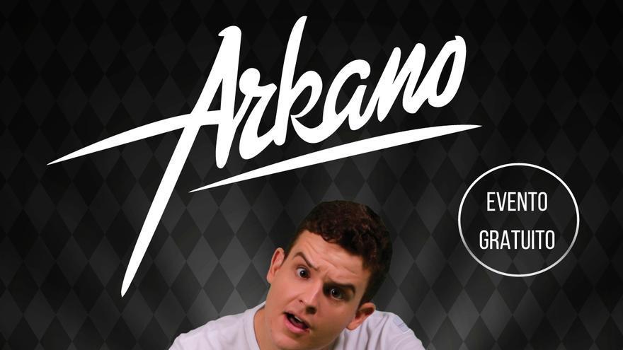Cartel del concierto del rapero Arkano