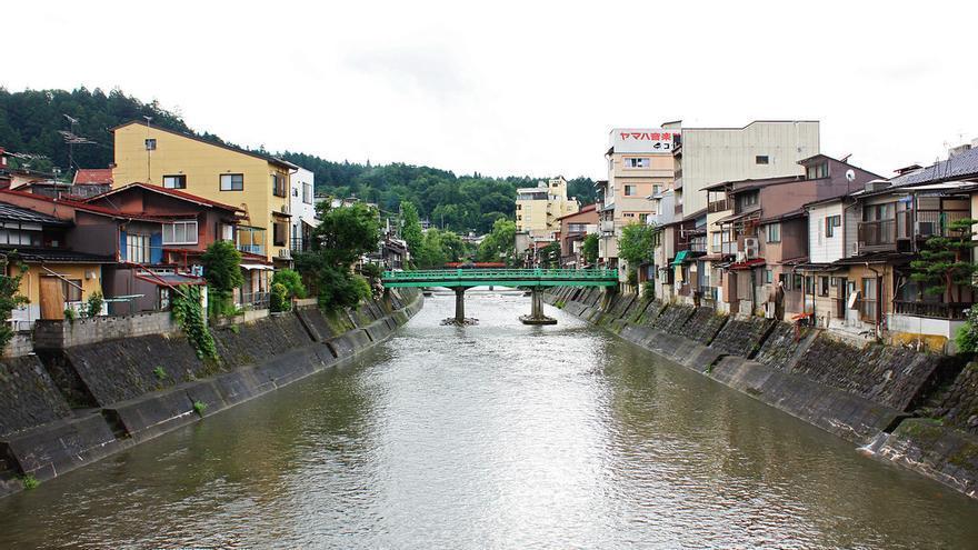 El Río Miyagawa a su paso por la ciudad de Takayama. Andrea Schaffer