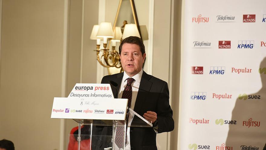 Emiliano García-Page en los Desayunos Informativos de Europa Press