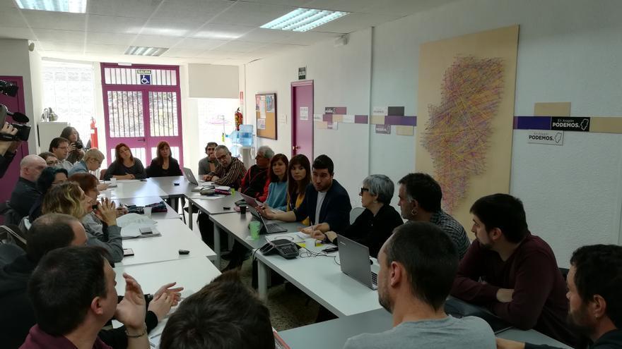 Consejo Ciudadano Autonómico de Podemos Aragón en el que se decidió no participar en las primarias de Zaragoza en Común