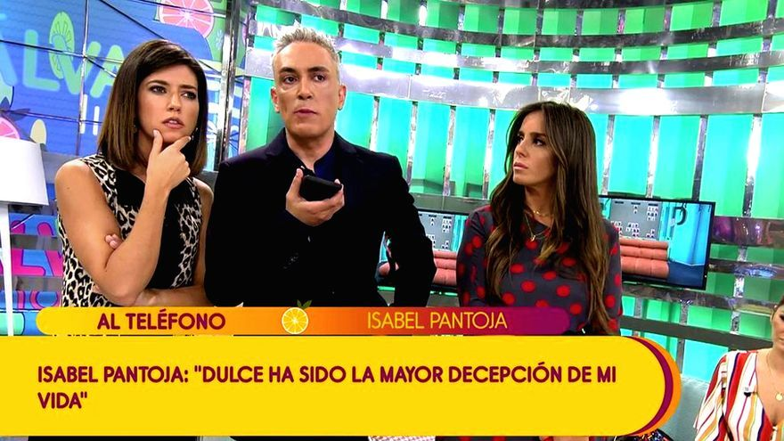 Kiko Hernández condujo la conversación con Isabel Pantoja