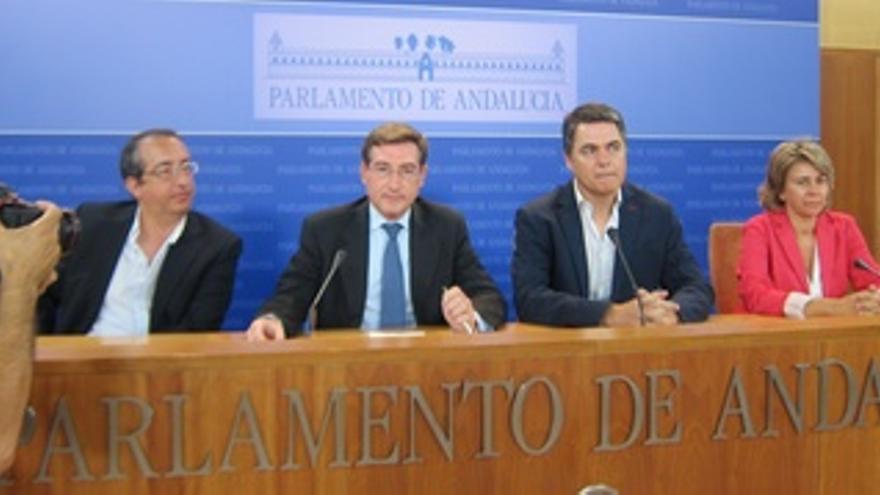Miembros del PP-A en la comisión de investigación de los ERE